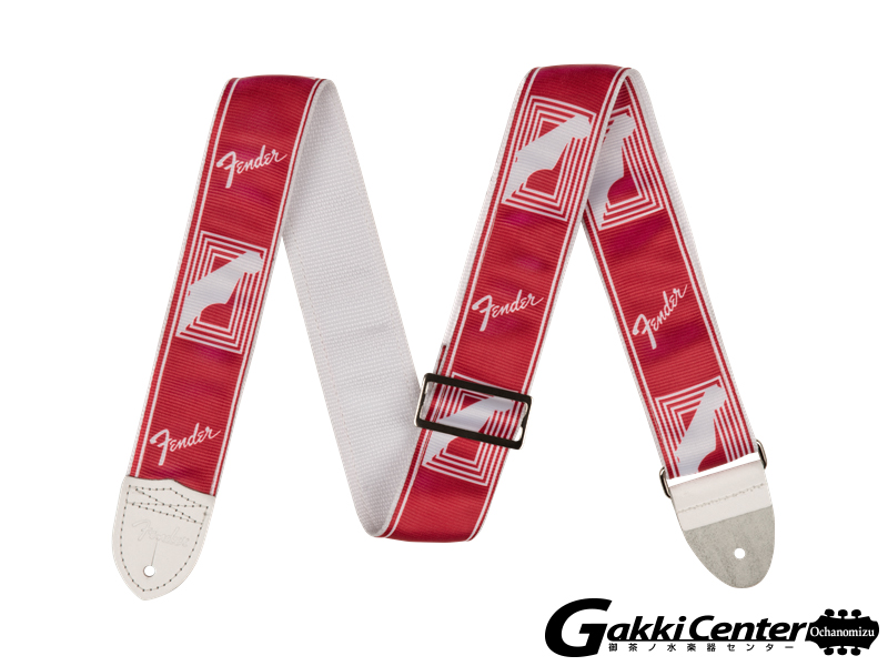 "Fender 2"" Custom Color Monogrammed Straps Candy Apple Red"
