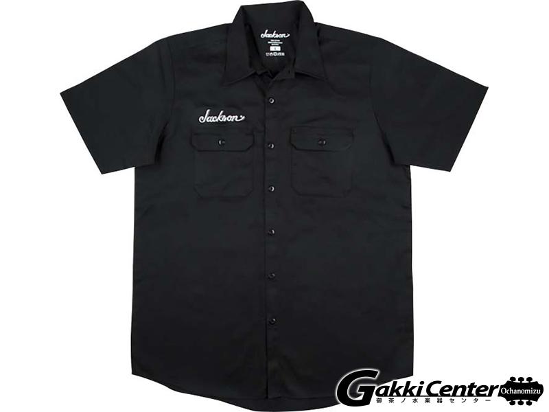 Jackson Logo Work Shirt,Black (L)