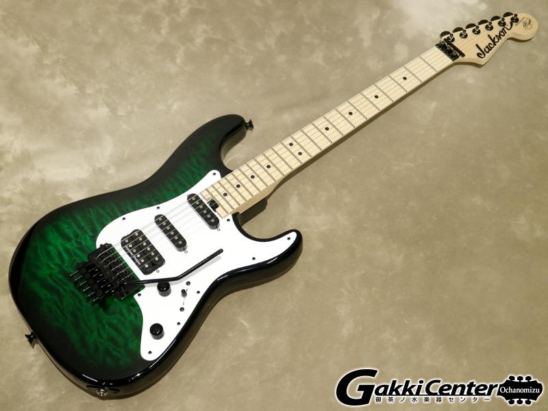 【アウトレット】Jackson USA Signature Adrian Smith San Dimas SDQM, Transparent Green Burst【シリアルNo:XN009648/4.0kg】【店頭在庫品】