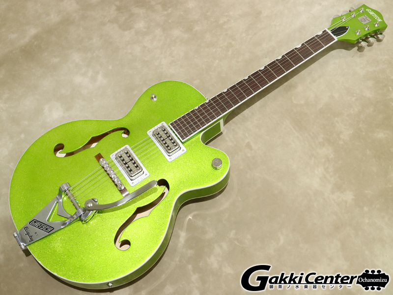 Gretsch G6120T-HR Brian Setzer Signature Hot Rod Hollow Body with Bigsby / Extreme Coolant Green Sparkle【シリアルNo:JT19104200/3.2kg】【店頭在庫品】