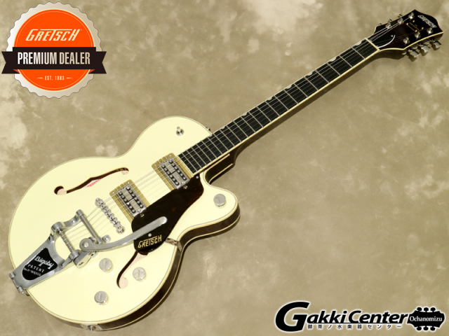 Gretsch G6659T Players Edition Broadkaster Jr. Center Block Single-Cut with String-Thru Bigsby, Two-Tone Lotus Ivory/Walnut Stain【シリアルNo:JT20041740/3.3kg】【店頭在庫品】