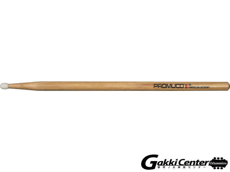 PROMUCO 2B NYLON A.HICKORY (Drumsticks American Hickory Nylon Tip 2B)