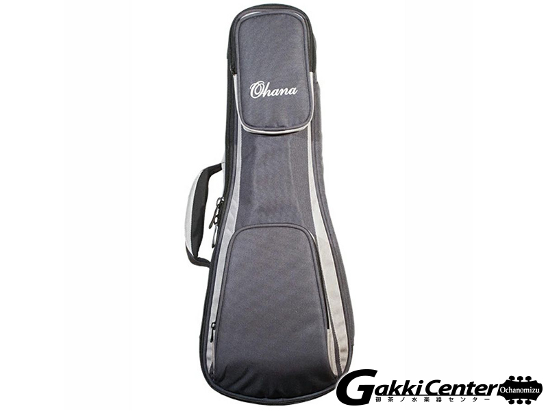 Ohana DSC-21 GY Deluxe Soft Case, Soprano, 30/60mm Padding(Gray/Blk)