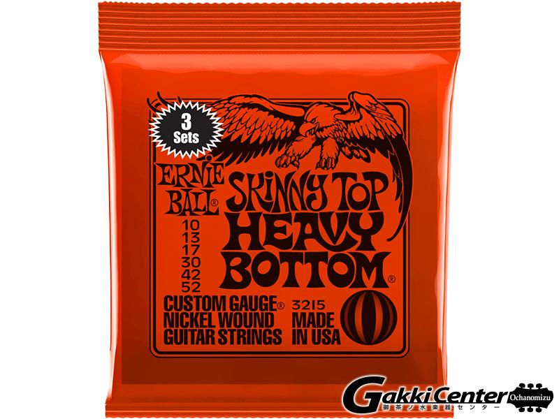 【SALE】ERNiE BALL SKINNY TOP HEAVY BOTTOM SLINKY 3 Set Pack [#3215]