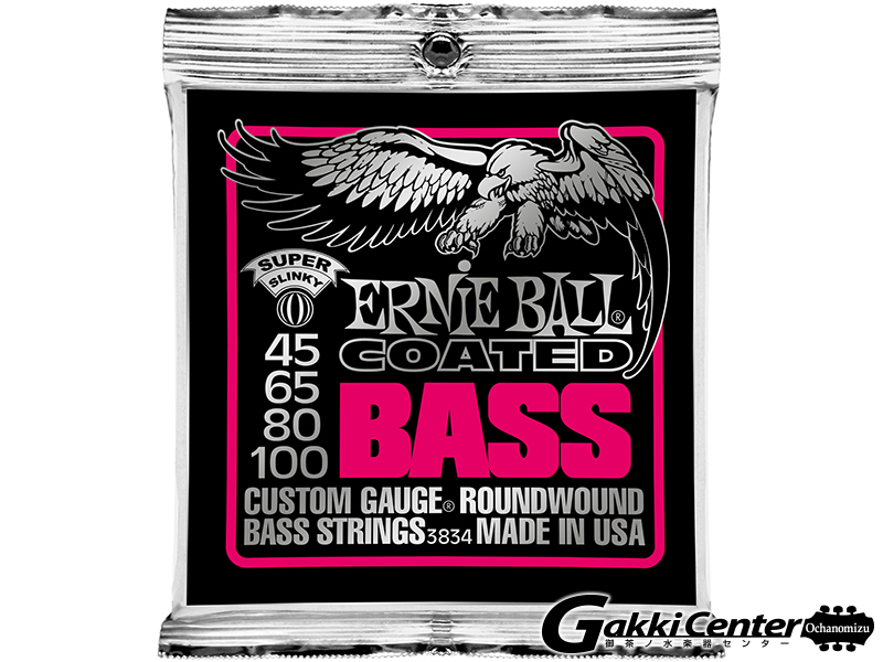 ERNiE BALL COATED SUPER SLINKY  BASS [#3834]【店頭在庫品】