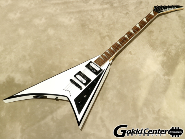 Jackson JS32T RHOADS White with Black Bevels【シリアルNo:CWJ1742247/2.7kg】【店頭在庫品】