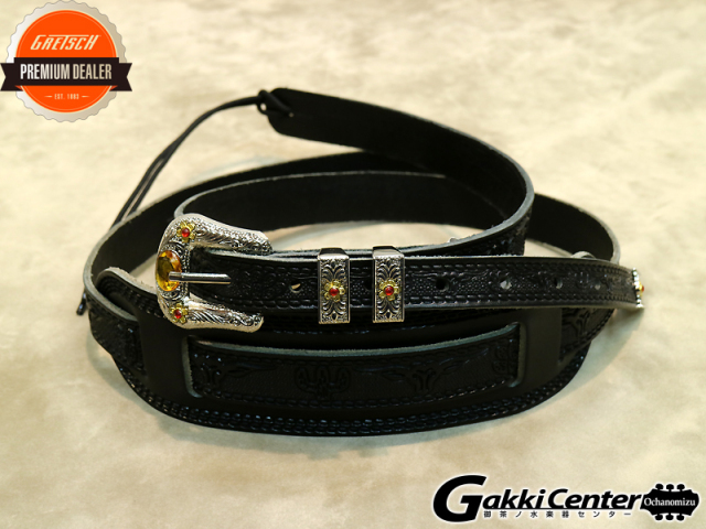 Gretsch Tooled Straps Blk