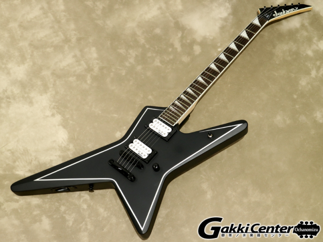 Jackson JS32 Gus G. STAR Satin Black with White Pinstripes【シリアルNo:CWJ1707189/3.0kg】【店頭在庫品】