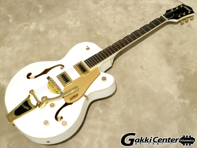 【アウトレット】Gretsch G5420TG-FSR Electromatic Hollow Body Single-Cut with Bigsby White【シリアルNo:KS18013218/3.5kg】【店頭在庫品】