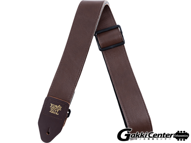 ERNiE BALL(アーニーボール) 2 Tri-Glide Italian Leather Strap Brown [#4135]【店頭在庫品】