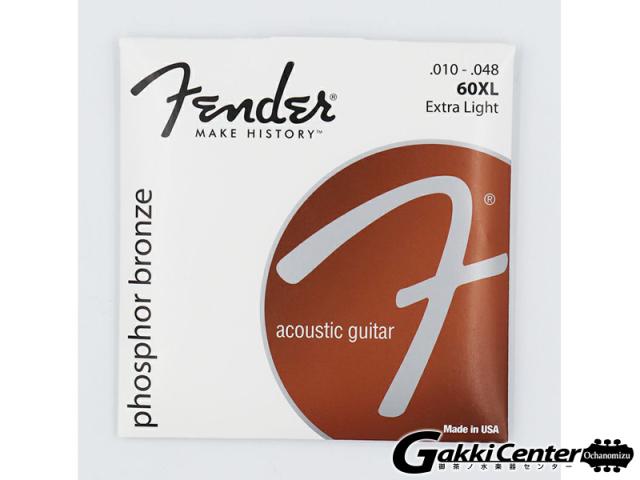 [Outlet] Fender Phosphor Bronze Acoustic Guitar Strings, 60XL (.010-.048)