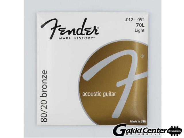 [Outlet] Fender 80/20 Bronze Acoustic Strings, 70L (.012-.052)
