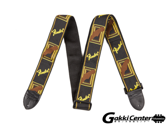 "Fender 2"" Monogrammed Straps Black/Yellow/Brown"