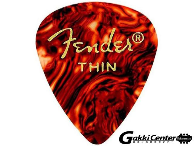 [Outlet] Fender 351 Shape Picks Tortoise Shell, Thin - 12 Count Pack