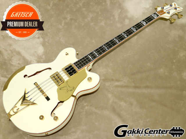 Gretsch G6136B-TP Tom Petersson Signature Falcon™ 4-String Bass Aged White【シリアルNo:JT20020914/4.4kg】【店頭在庫品】