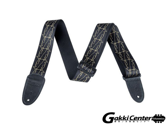 Gretsch Double Penguins Strap, Black / Gold