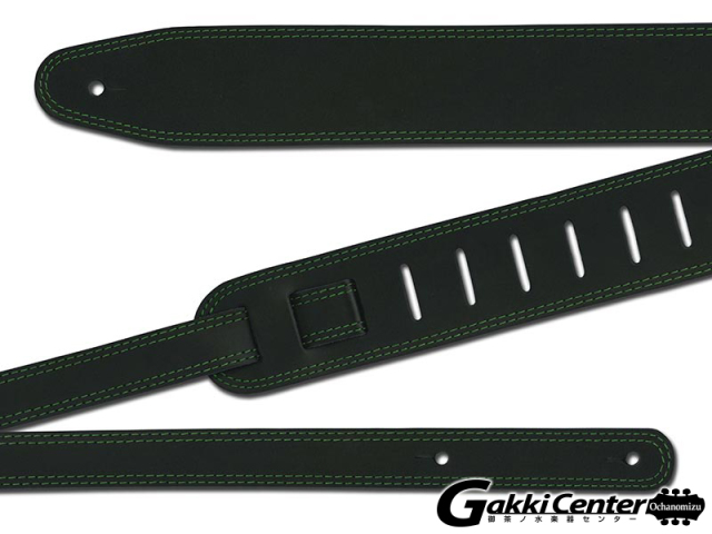 RENEGADE ギター/ベース用 ストラップ Double Stitch Black / Green