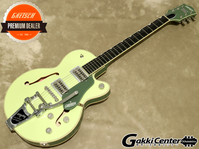Gretsch G6659T Players Edition Broadkaster® Jr. Center Block Single-Cut with String-Thru Bigsby, Two-Tone Smoke Green【シリアルNo:JT20052125/3.5kg】【店頭在庫品】