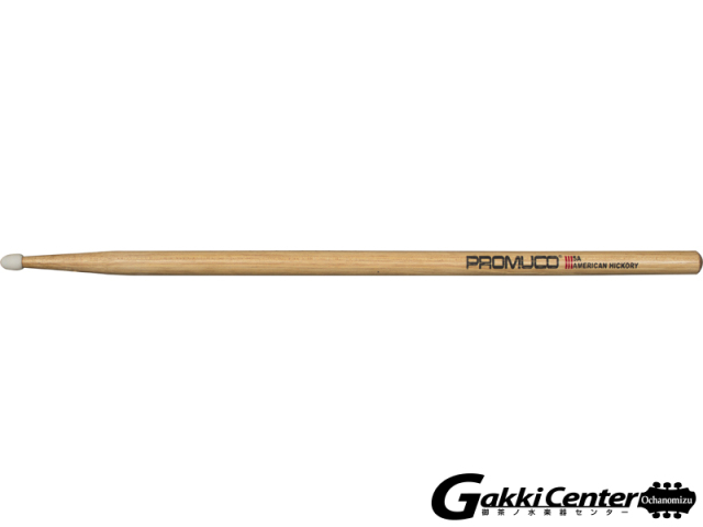 PROMUCO 5A NYLON A.HICKORY (Drumsticks American Hickory Nylon Tip 5A)