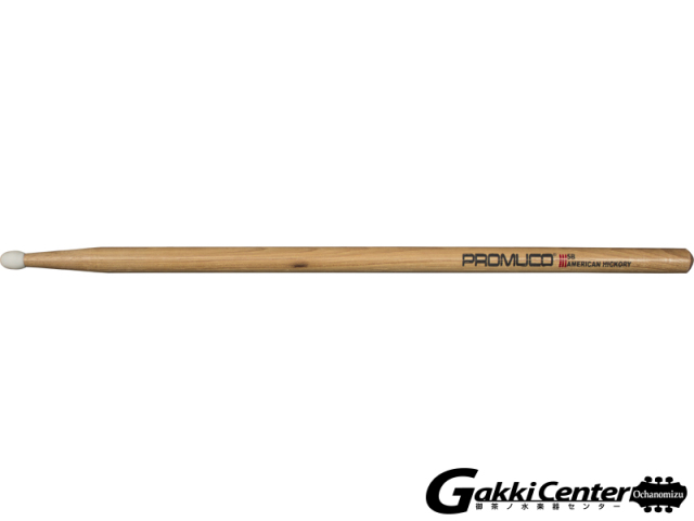 PROMUCO 5B NYLON A.HICKORY  (Drumsticks American Hickory Nylon Tip 5B)