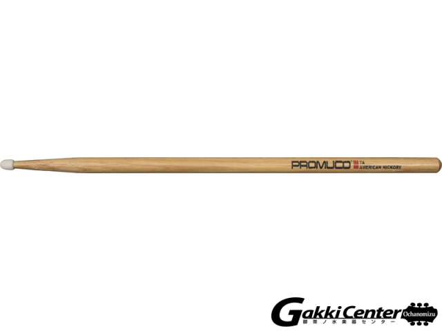 PROMUCO 7A NYLON A.HICKORY  (Drumsticks American Hickory Nylon Tip 7A)