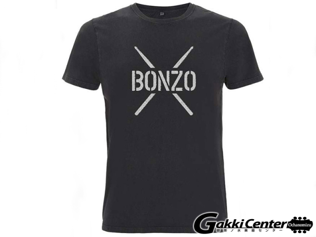 PROMUCO John Bonham T-Shirt BONZO STENCIL - Black(Lサイズ)