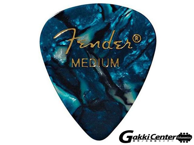 [Outlet] Fender 351 Shape Premium Picks, Medium, Ocean Turquoise - 12 Count Pack