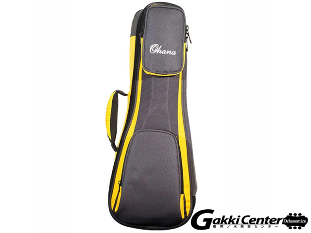 Ohana DSC-24 YL Deluxe Soft Case, Concert, 30/60mm Padding(Yellow/Blk)