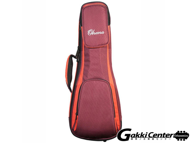 Ohana DSC-24 OR Deluxe Soft Case, Concert, 30/60mm Padding(Orange/Burgandy)