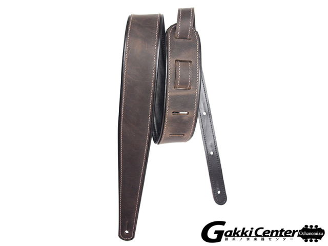 LM Products Premier Guitar Strap - Rustic Leather PM-12 Kona Grey