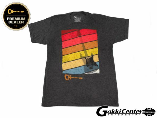 Charvel Sunset T-Shirt, Charcoal, Medium
