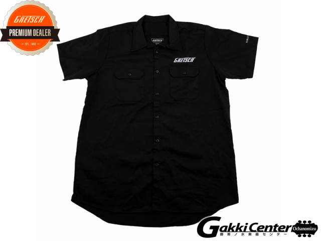 Gretsch Streamliner Workshirt, Black, Large
