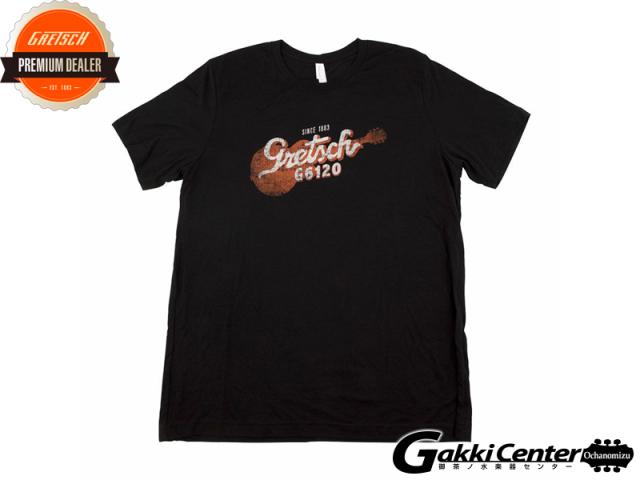 Gretsch G6120 T-Shirt, Black, Large
