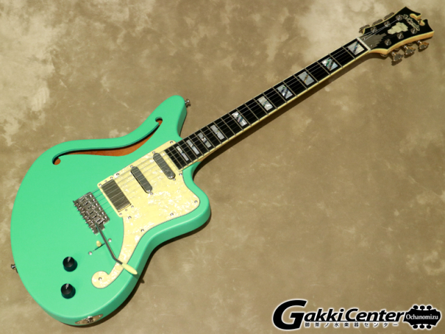D'Angelico Deluxe Series Deluxe Bedford SH Limited Edition, Matte Surf Green【シリアルNo:W2002882/3.6kg】【店頭在庫品】