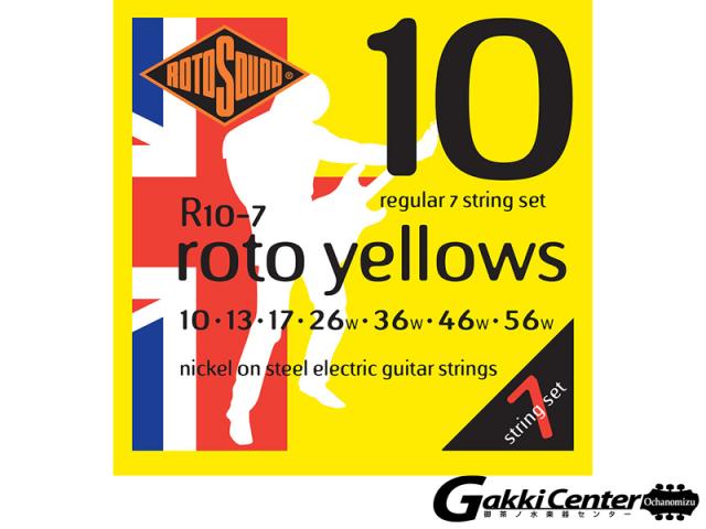 ROTOSOUND R10-7 Regular 7 Stringss Set (.010-.056)