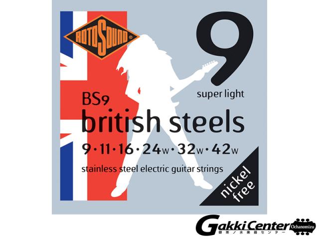 ROTOSOUND BS9 British Steels Super Light (.009-.042)
