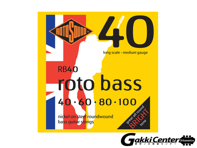 ROTOSOUND RB40 Long Scale Medium (.040-.100)