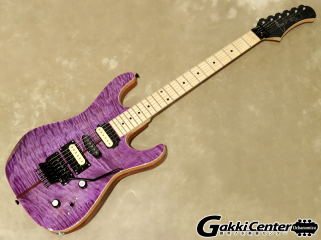 Bootleg Guitars Generator, Flame top, trans purple, HSH, V/T 5 【シリアルNo:I11189/3.6kg】【店頭在庫品】
