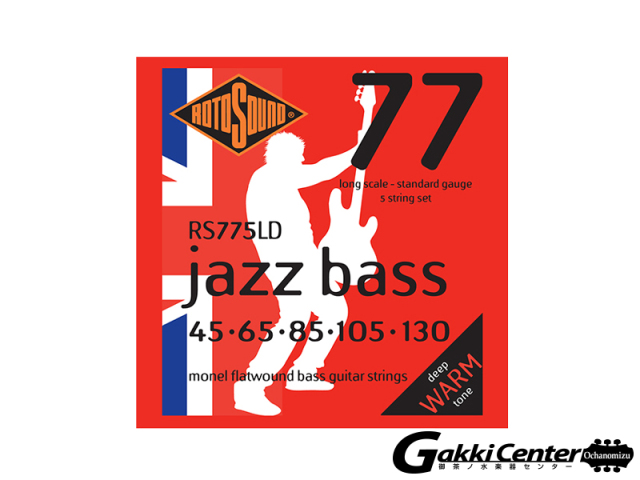 ROTOSOUND RS775LD Monel Flatwound 5 String (.045-.130)