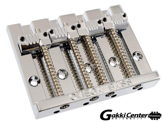Allparts 4-String Grooved Omega Bass Bridge Chrome/6078