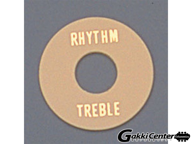 Allparts Cream Plastic Rhythm/Treble Ring/6553