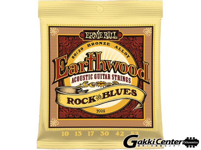 【限定特価!】ERNiE BALL Earthwood 80/20 Rock & Blues [#2008] 【店頭在庫品】