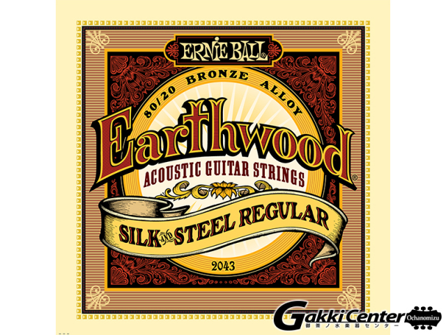 ERNiE BALL Earthwood 80/20 Silk & Steel Regular [#2043] 【店頭在庫品】
