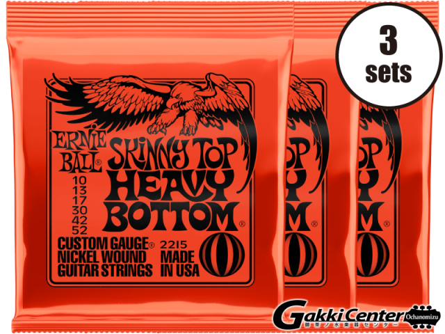 【SALE】ERNiE BALL SKINNY TOP HEAVY BOTTOM SLINKY [#2215] 3セット【店頭在庫品】