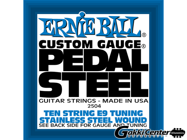 ERNiE BALL Steel Guitar Strings 10-String E9 Tuning Stainless Steel Wound [#2504] 【店頭在庫品】