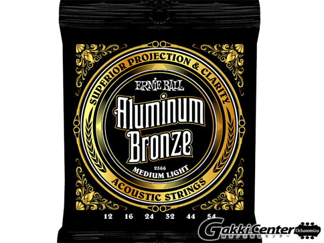 ERNiE BALL Aluminum Bronze Acoustic Medium Light [#2566] 【店頭在庫品】