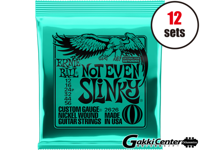 【SALE】ERNiE BALL NOT EVEN SLINKY 12-56 [#2626] 12セット【店頭在庫品】