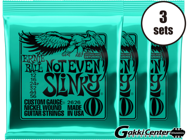 【SALE】ERNiE BALL NOT EVEN SLINKY 12-56 [#2626] 3セット【店頭在庫品】