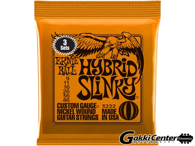 【SALE】ERNiE BALL HYBRID SLINKY 09-46 [#3222] 3 Set Pack