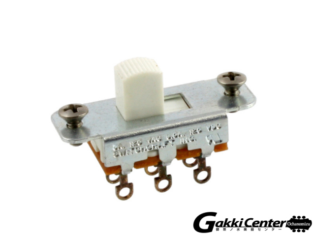 Allparts Switchcraft White On-On Slide Switch/1009